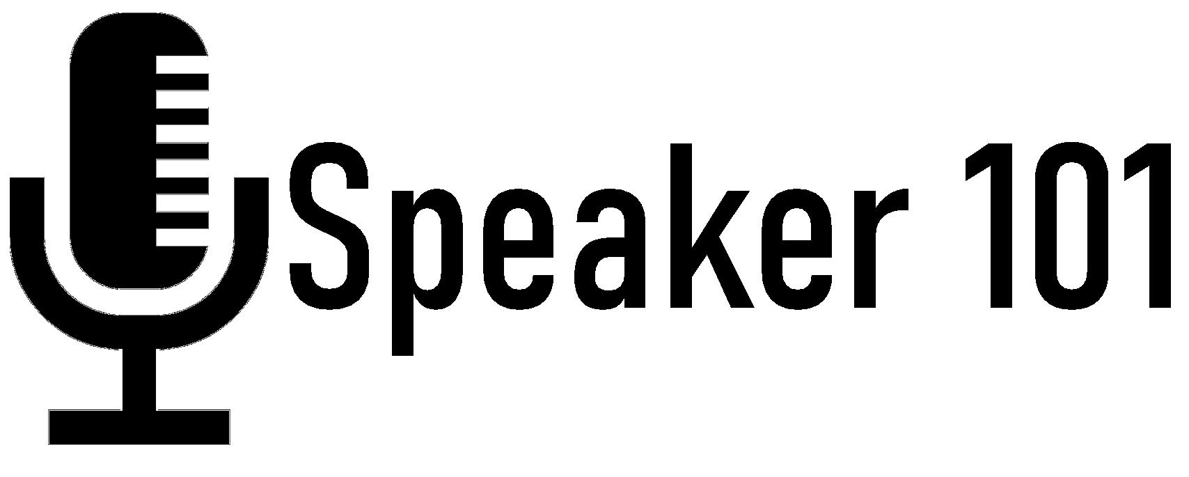 Logo Speaker101 black on white